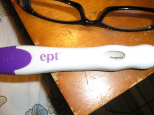 Positive pregnancy test October 10. 2011